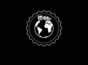 Maps LAUSANNE noir